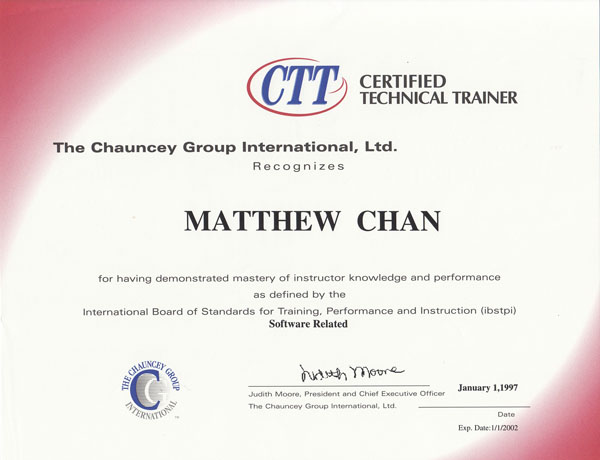 Certified Technical Trainer